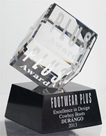 Durango Wins 2013 Plus Award for design excellence in the Cowboy Boots